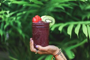 Acai smoothie drink.